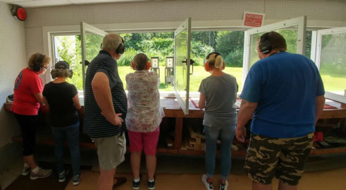 Ladies Pistol Class - On the range